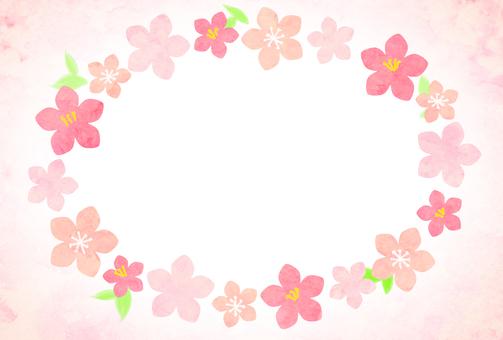 Peach blossom doll festival postcard frame