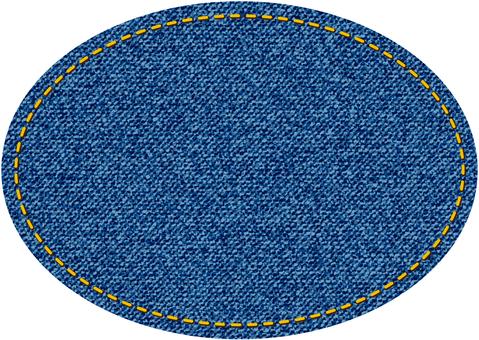 デニム風楕円型図形