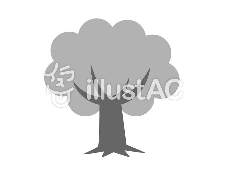 木モノクロイラスト No 370444無料イラストならイラストac