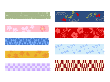 Japanese Pattern Masking Tape