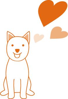 강아지 하트 06