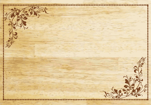 Woodgrain signboard lace frame frame photo frame