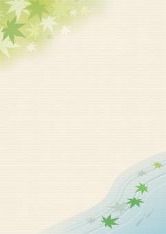 단풍 프레임 녹색 4