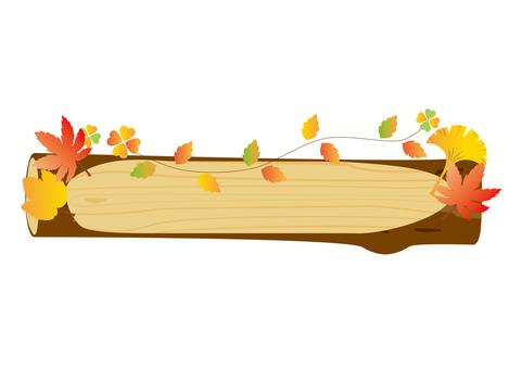 Autumn leaves _ log frame