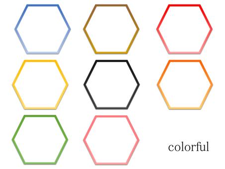 육각형 (속이 흰색 페인트)
