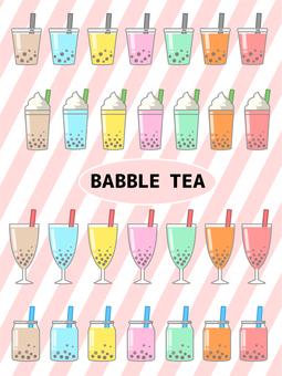 Tapioca drink menu colorful