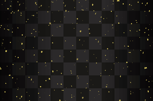 Checker pattern and gold dust black