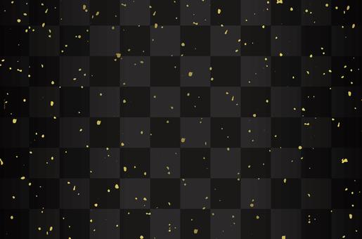 Patrón de cuadros y polvo de oro negro