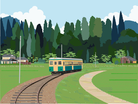 Rural scenery train