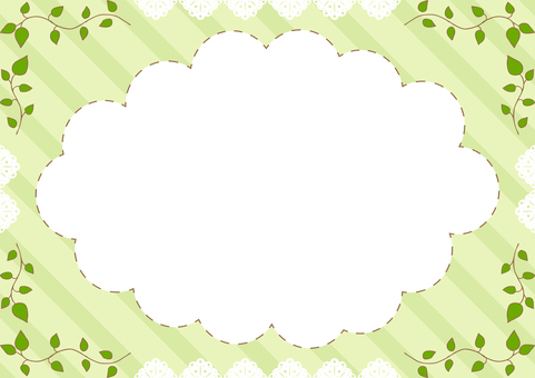 Leaves lace frame squirt stripe background