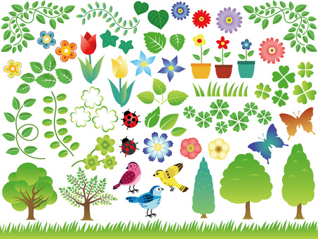 Various Spring graphic materials 1