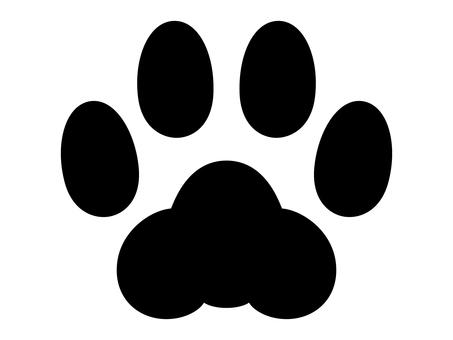 猫の足跡_モノクロ