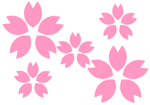 Cherry blossoms (thick multiple)