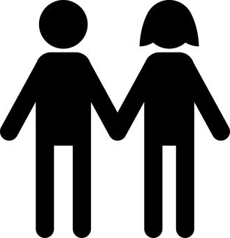 커플 부부 남녀 픽토그램