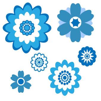 Retro flower pattern ⑨