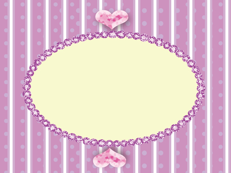 Polka dot sparkle frame