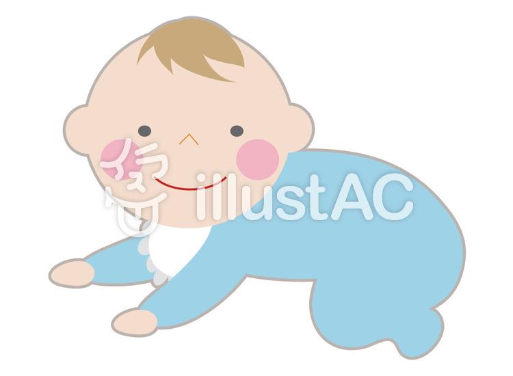 赤ちゃん はいはいイラスト No 669617無料イラストならイラストac