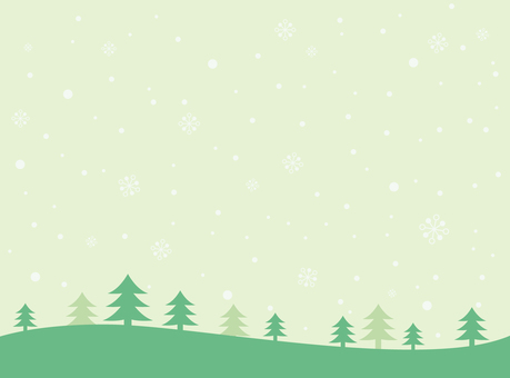 Snow background green