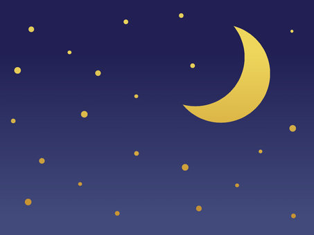 Crescent moon night sky