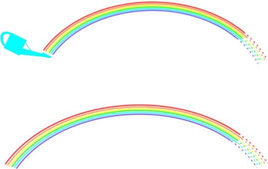 Jouro and rainbow (sideways)