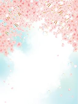 벚꽃 배경 2 (세로)