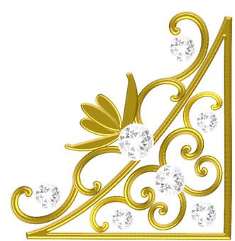 Luxury gold diamond frame 02