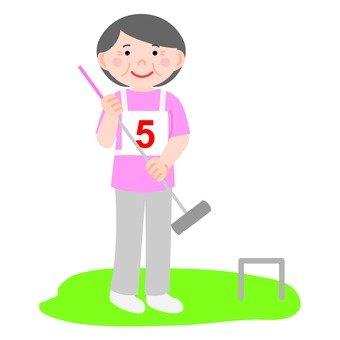 Senior women gateball