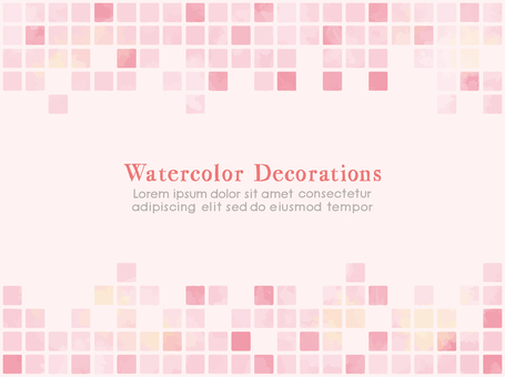 Watercolor touch tile-like material Pink