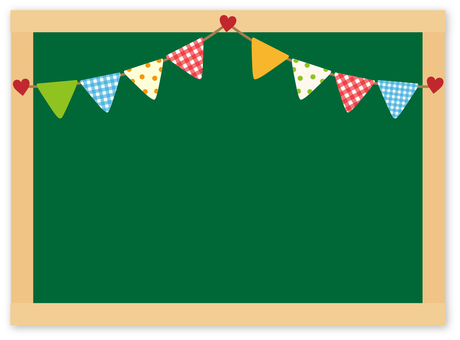 Blackboard with garland
