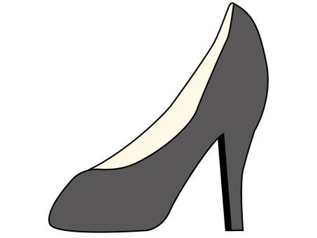 One side of high heels (gray)