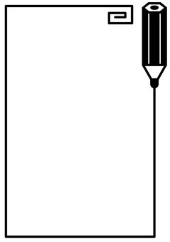 鉛筆フレームタテ1c
