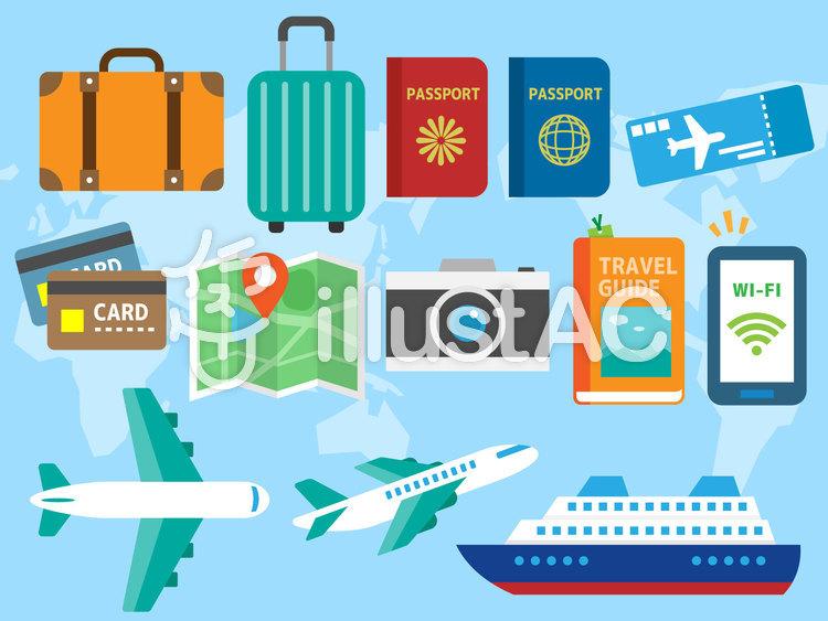 旅行系アイコン01のイラスト