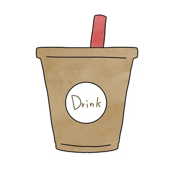 Ice coffee illustration