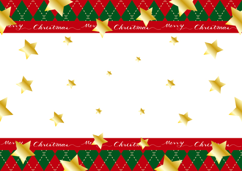 Christmas star argyle background