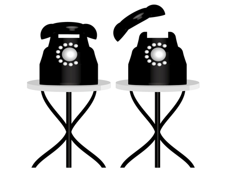 Telephone and round table 10