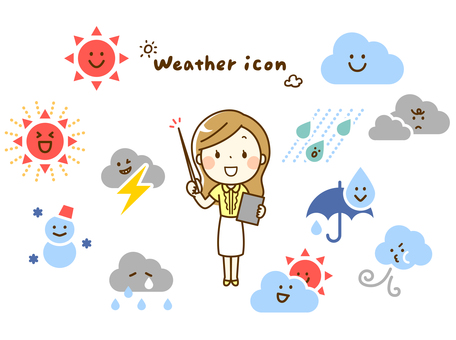 Weather icon and weather forecaster