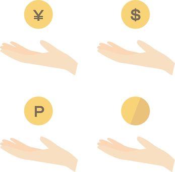 A set of money / points