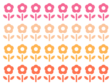 Background flower warm color