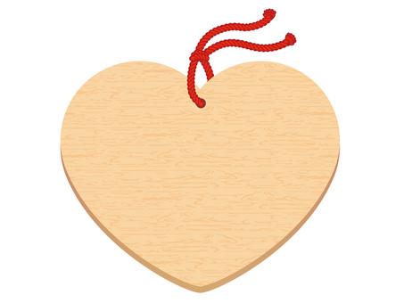 Heart-shaped plain ema