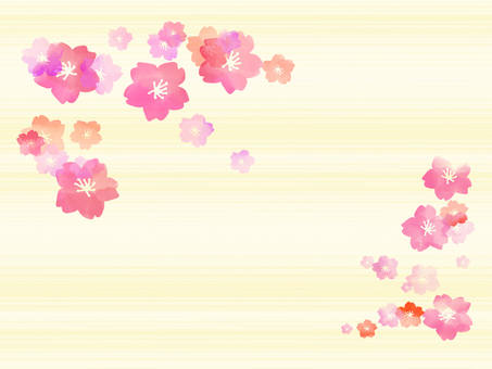 Cherry blossom background line 2