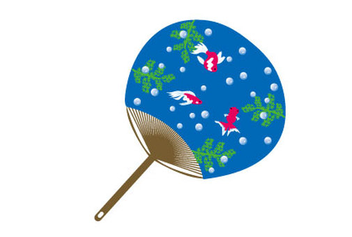 Fan and goldfish pattern