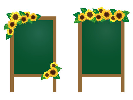 Sunflower _ blackboard _ 02