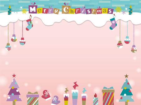 Christmas motif frame _A02