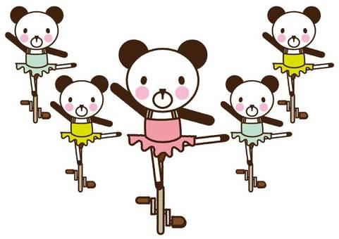 Unicycle Acting Panda