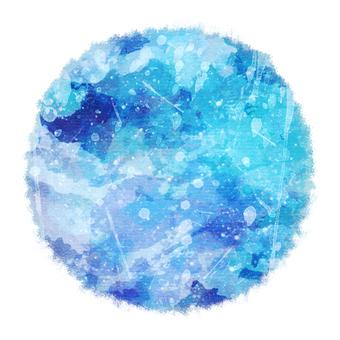 Watercolor circle 7