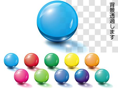 Ball, glass ball, three-dimensional