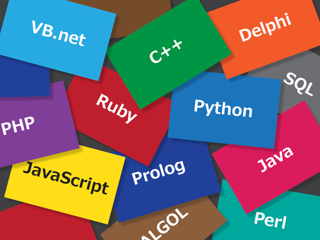 Programming language and colorful cards