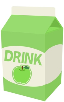 Green apple juice pack