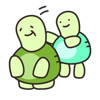 Turtle's parent and child
