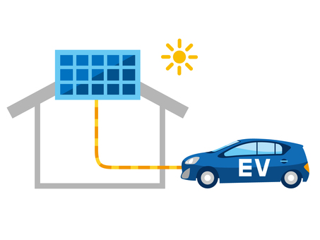 Electric vehicles and solar power generation